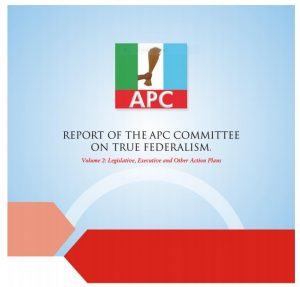 Volume 2: Report of the APC Committee on True Federalism – Action Plan