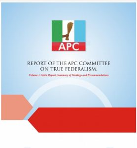 Volume 1: Report of the APC Committee on True Federalism